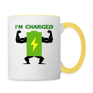 Battery charged - Taza en dos colores