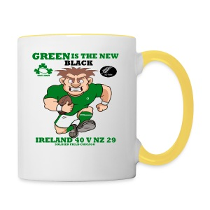 GREEN IS THE NEW BLACK !! - Contrasting Mug