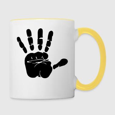 Hand Print - Kaksivärinen muki