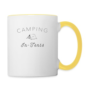 camping is in-tents - Contrasting Mug