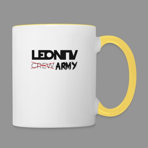 LeonTV ̶c̶̶r̶̶e̶̶w̶ ARMY - Tasse zweifarbig