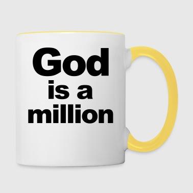 Bóg jest milion - Kubek dwukolorowy