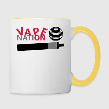 Vape On - vape Nation - Tvåfärgad mugg