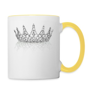 Queen Crown design - Contrasting Mug