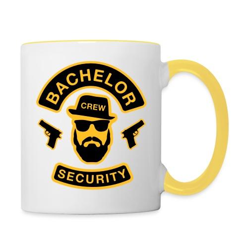 Bachelor Security - JGA T-Shirt - Bräutigam Shirt - Tasse zweifarbig