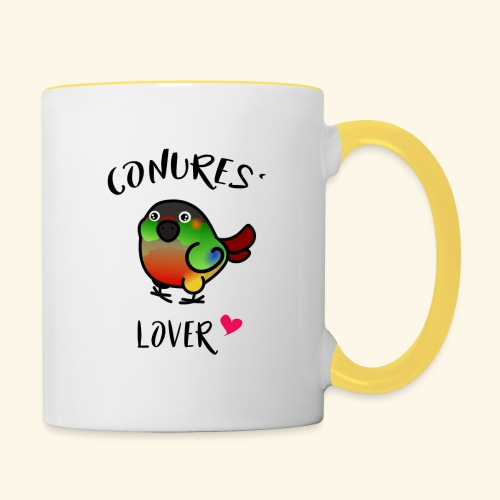 Conures' Lover: opaline - Mug contrasté