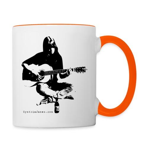Cynthia Janes guitar BLACK - Contrasting Mug