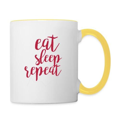 eat sleep repeat - Taza en dos colores