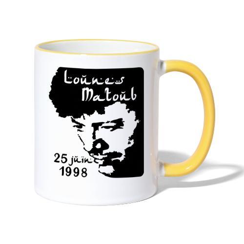 Motif hommage à Lounes Matoub - Mug contrasté