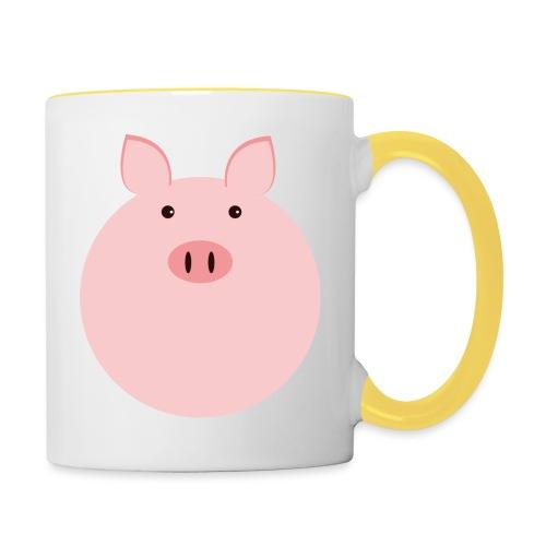 Schweinchen Fred - Tasse zweifarbig