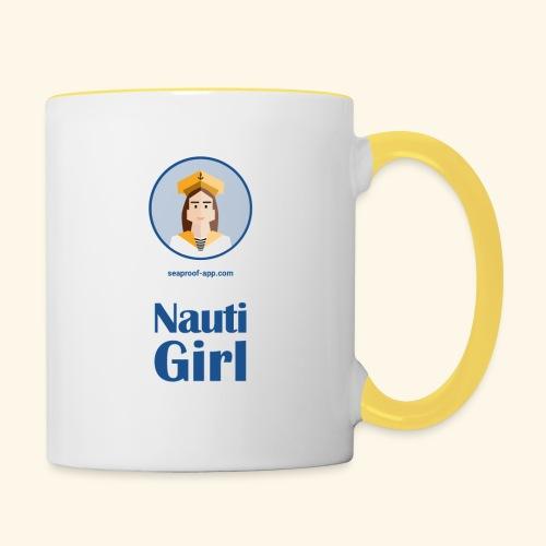 SeaProof Nauti Girl - Tasse zweifarbig