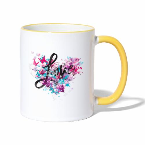 Love with Heart - Contrasting Mug
