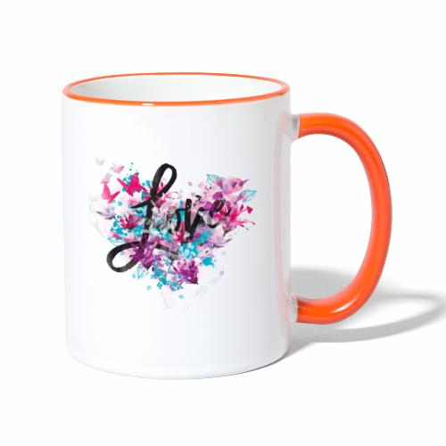 Love with Heart - Contrasting Mug