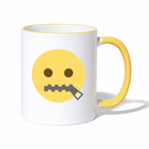 emoji bocca chiusa - Tazze bicolor
