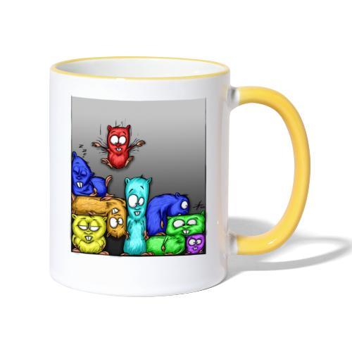 hamstris_farbe - Tasse zweifarbig