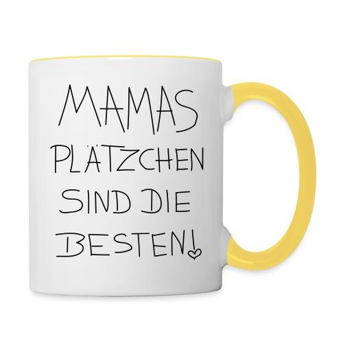 mamas plätzenchen sind die besten - Tasse zweifarbig