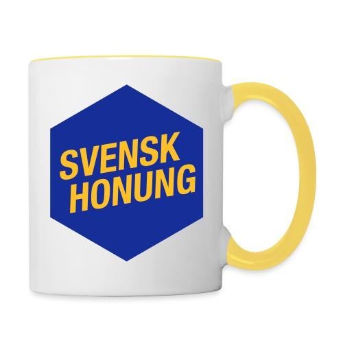Svensk honung Hexagon Blå/Gul - Tvåfärgad mugg
