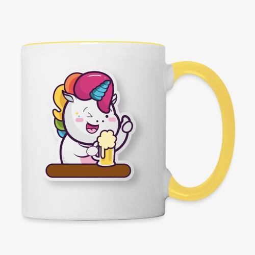 Funny Unicorn - Contrasting Mug