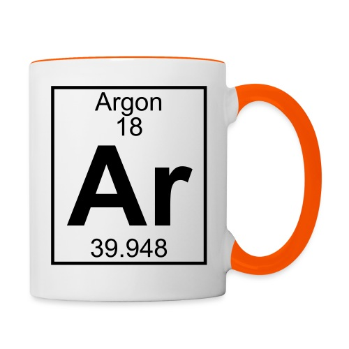 Argon (Ar) (element 18) - Contrasting Mug