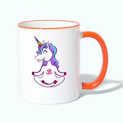 Unicorn meditation - Contrasting Mug