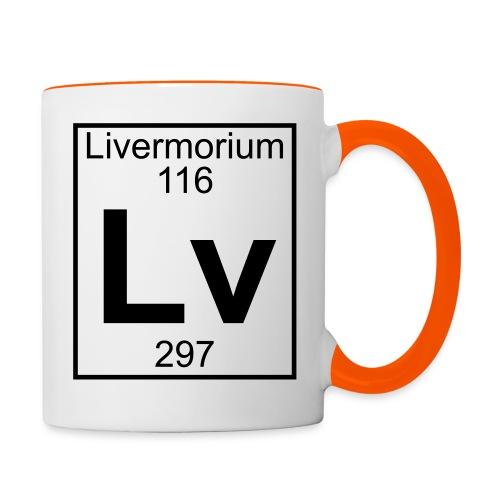 Livermorium (Lv) (element 116) - Contrasting Mug