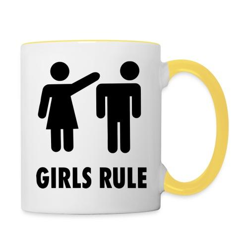 Frauen Macht - Tasse zweifarbig