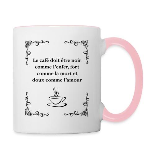 Le café doit être - Mug contrasté