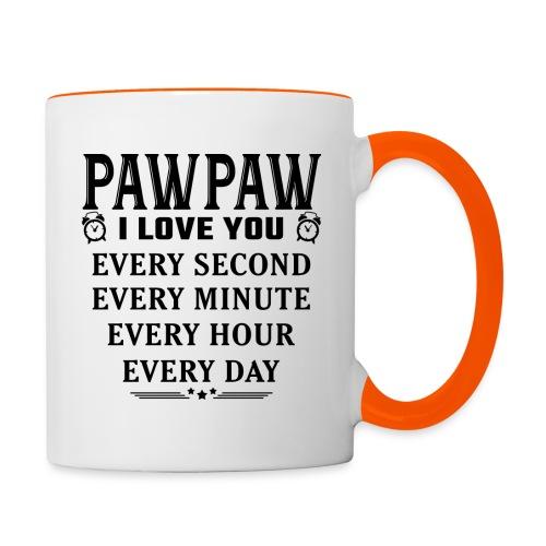 I Love You Pawpaw - Contrasting Mug