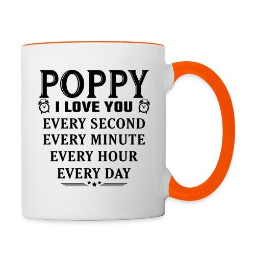 I Love You Poppy - Contrasting Mug