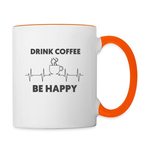 Kaffe Tasse mit Spruch - Tasse zweifarbig