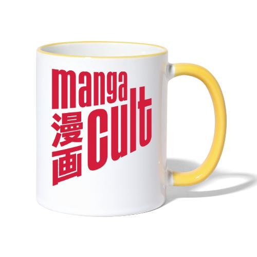 Manga Cult Logo Rot - Tasse zweifarbig
