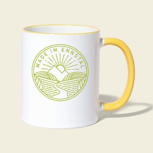 Made im Ennstal, grün - Tasse zweifarbig