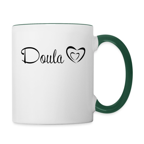 doula sydämet - Kaksivärinen muki
