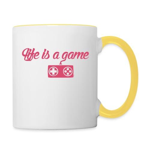 Life is a game (F) - Mug contrasté