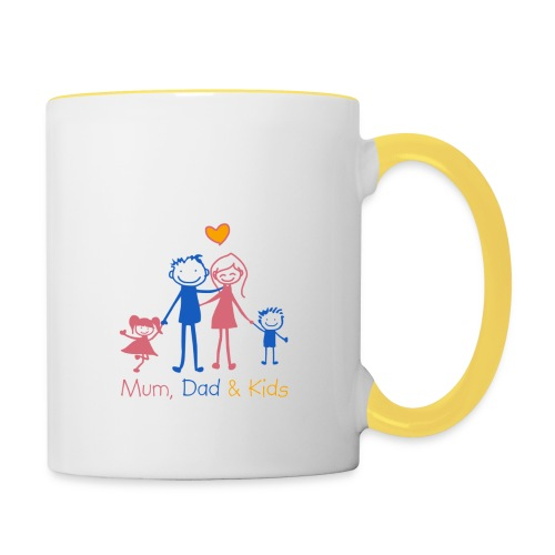 Mum Dad Kids - Contrasting Mug