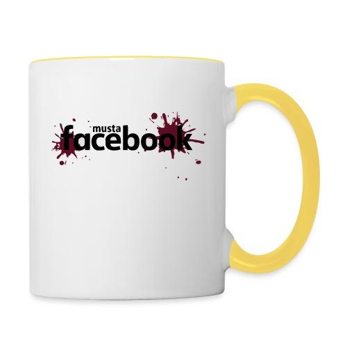 Musta Facebook -t-paita - Kaksivärinen muki