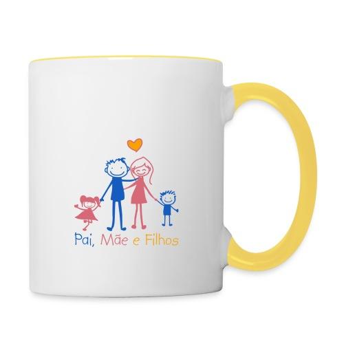 Pai Mãe e Filhos - Contrasting Mug