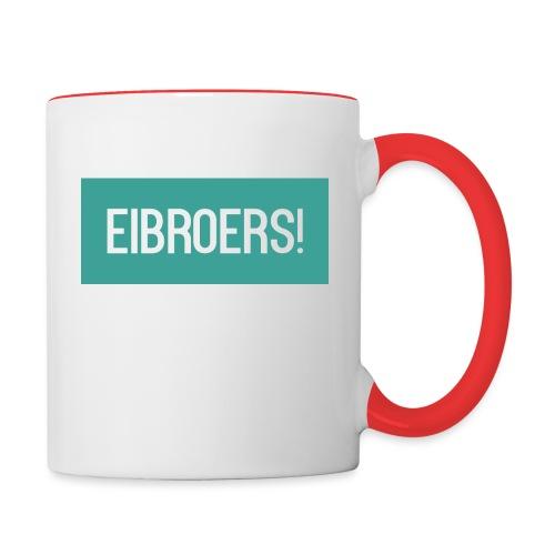 T-shirt Eibroers Naam - Mok tweekleurig