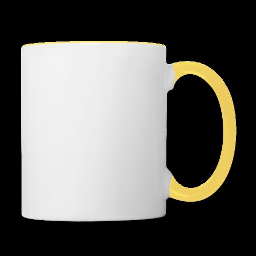 SkyHigh - Men's Premium T-Shirt - White Lettering - Contrasting Mug