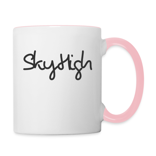 SkyHigh - Women's Premium T-Shirt - Black Lettering - Contrasting Mug