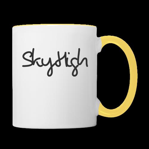SkyHigh - Men's Premium Hoodie - Black Lettering - Contrasting Mug