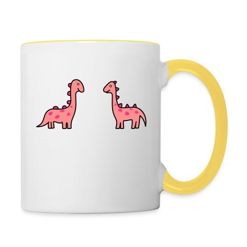 Mochila de Dinosaurios - Taza en dos colores