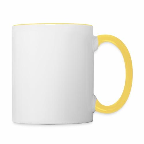 Hvit rektangulær logo - Tofarget kopp