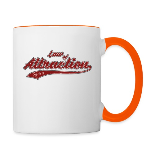 Law of Attraction Vintage - Mug contrasté