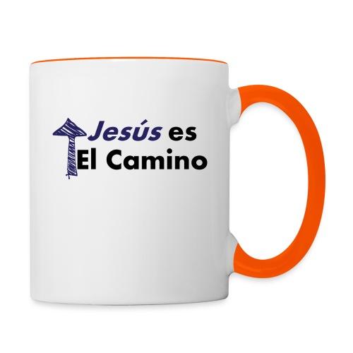 jesus el camino - Taza en dos colores
