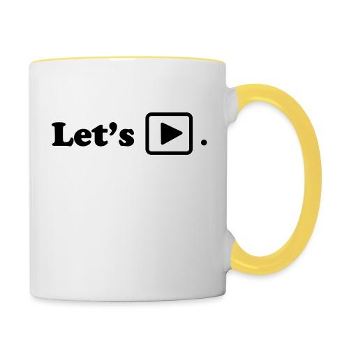 Let's play. - Mug contrasté