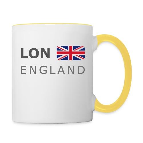 LON ENGLAND BF dark-lettered 400 dpi - Contrasting Mug