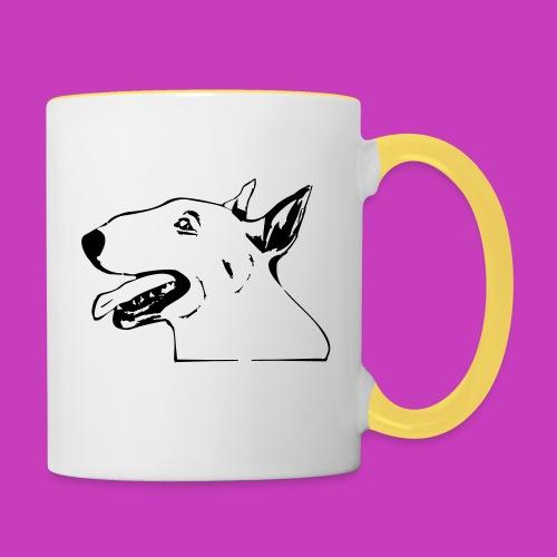 bullterrier - Tasse zweifarbig