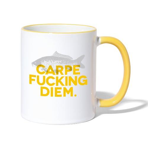CARPE FUCKING DIEM jaune - Mug contrasté