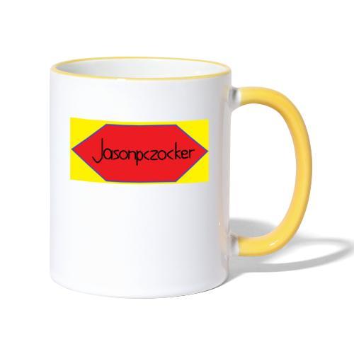 Jasonpczocker Design für gelbe Sachen - Tasse zweifarbig